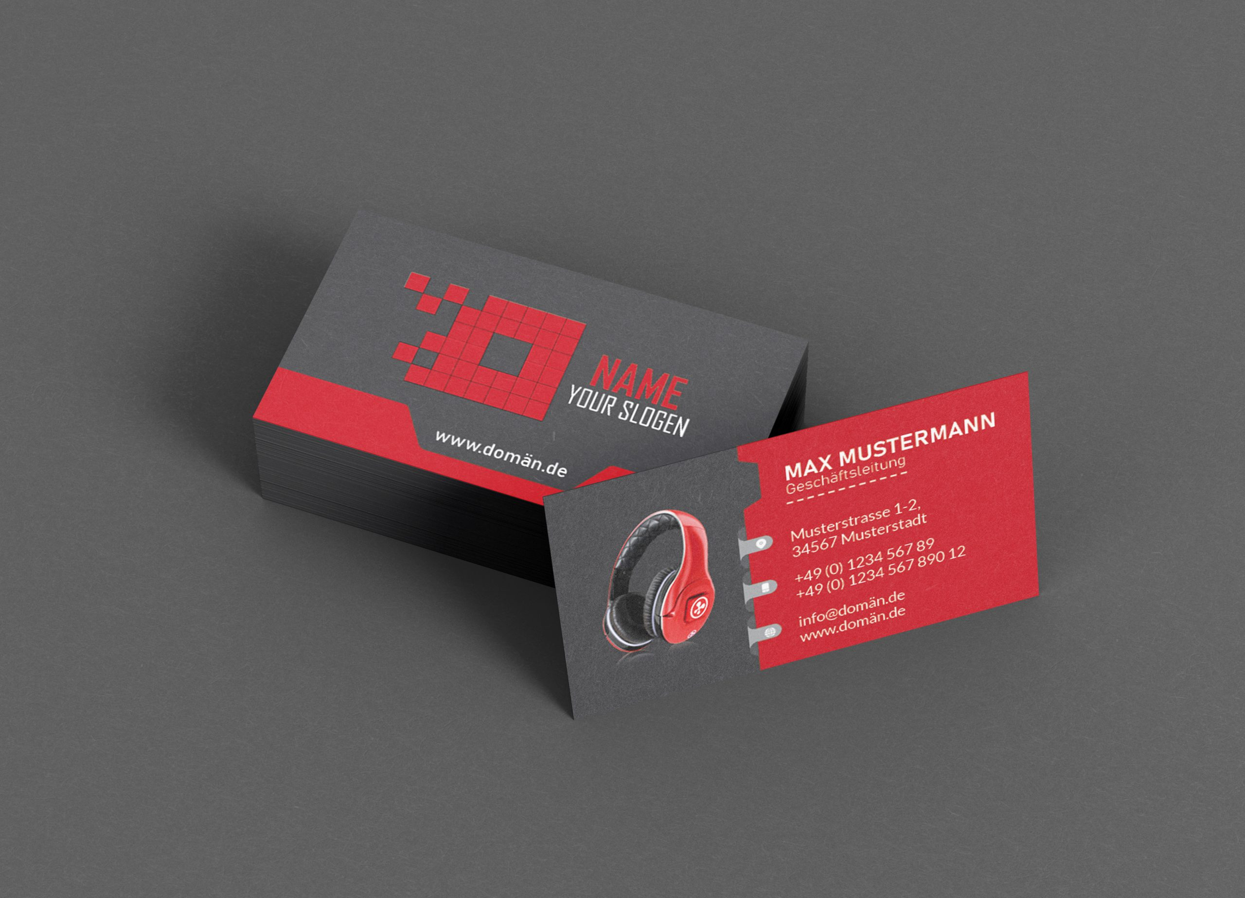 Business-Cards-Gallery-image-Red-Earphone