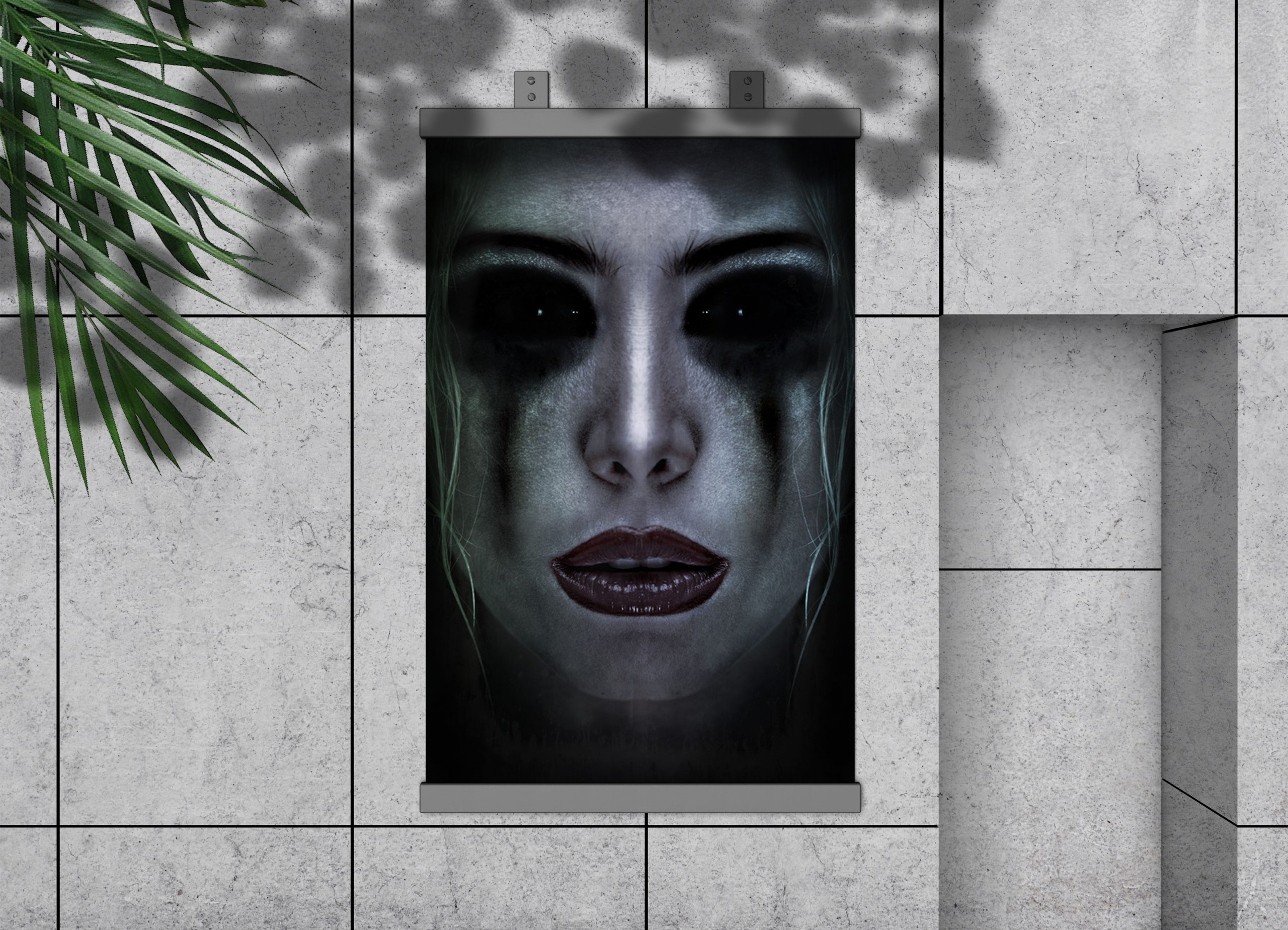 Composing-Gallery-Dark-Art-Mirror-Face