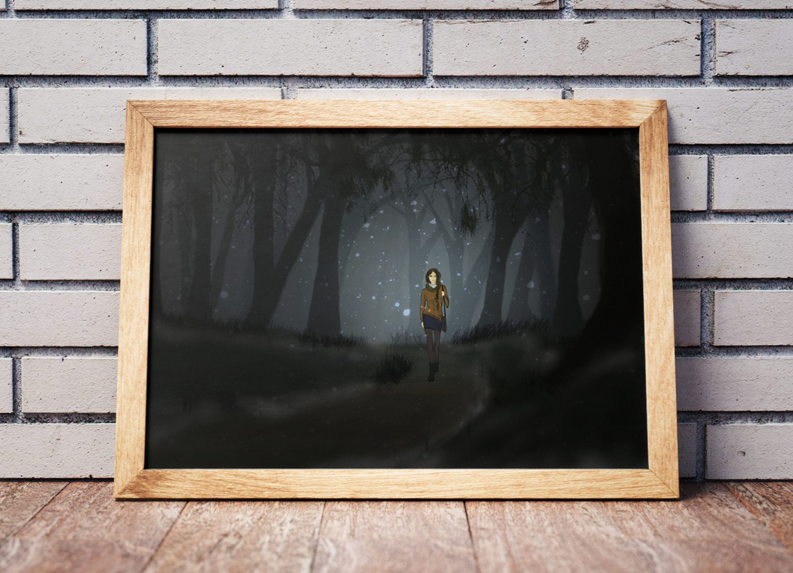 Composing-Gallery-girl-in-the-woods