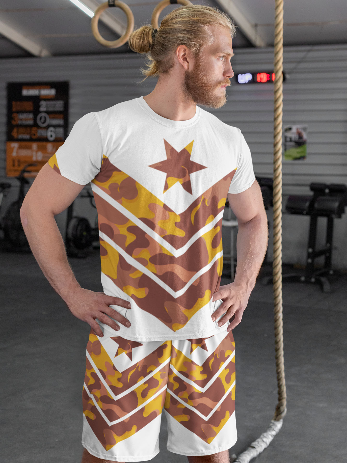 Spredshirt-Prints-Trailfire_0001_t-shirt-and-shorts-mockup-featuring-a-fit-man-33058