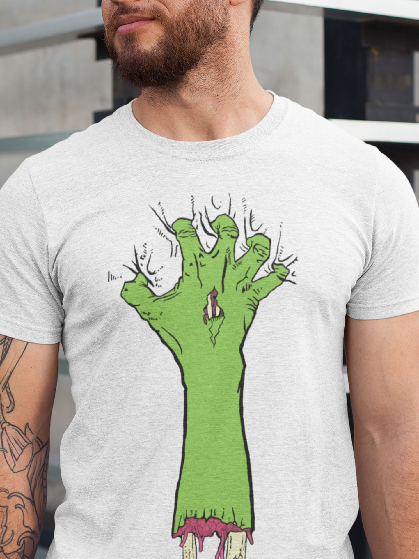 Spredshirt-Prints-Trailfire_0041_heathered-t-shirt-mockup-featuring-a-man-with-tattoos-on-one-arm-28616